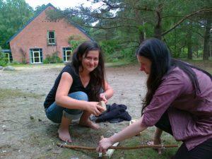 Wildnispädagogik-Feuerbohren