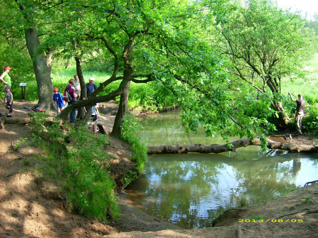 Wildnispädagogik-Flussüberquerung