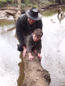 Wildnis Vater und Sohn