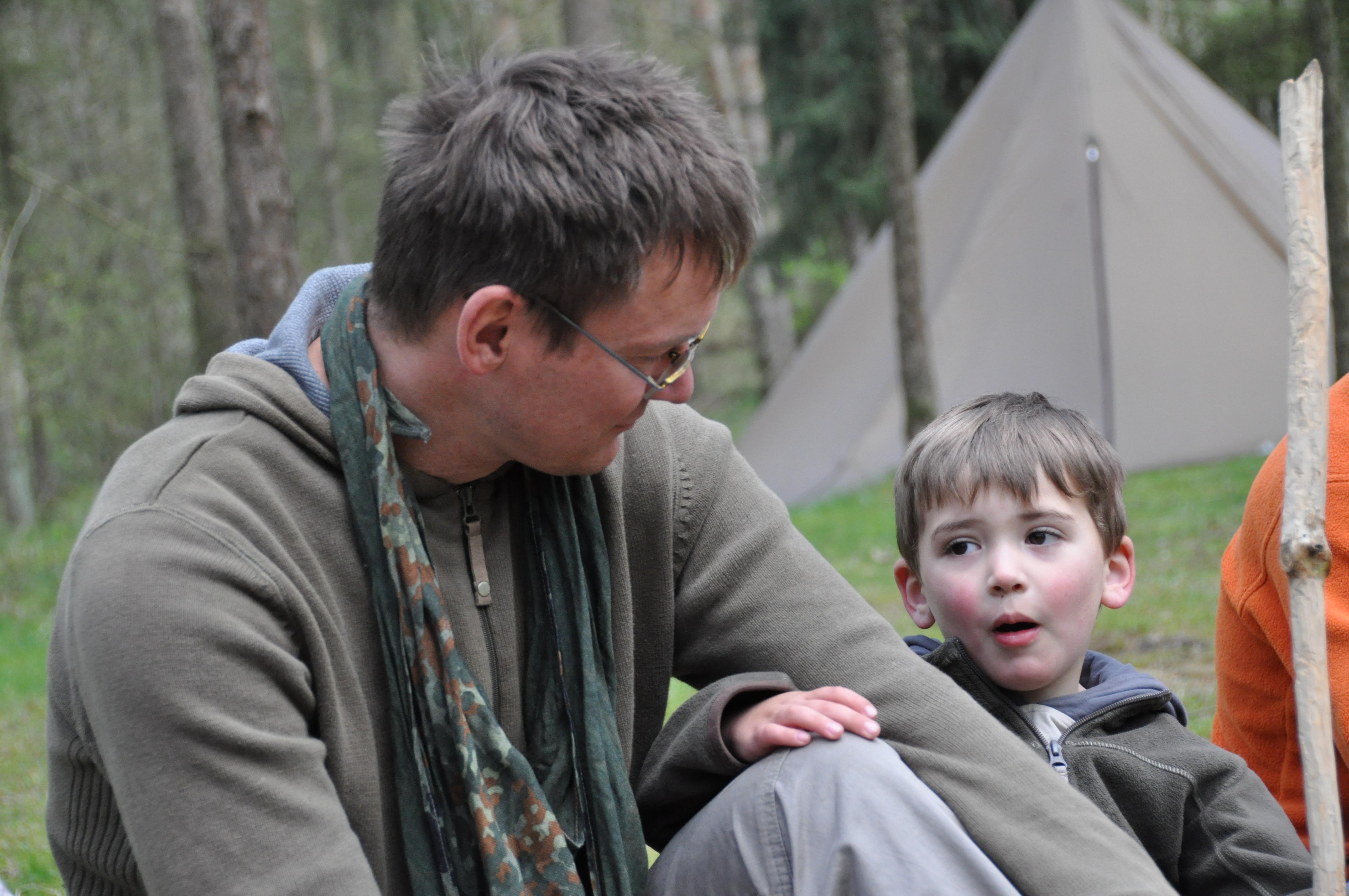 Wildnis Vater und Sohn Campleben