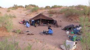 Campleben in der Wüste