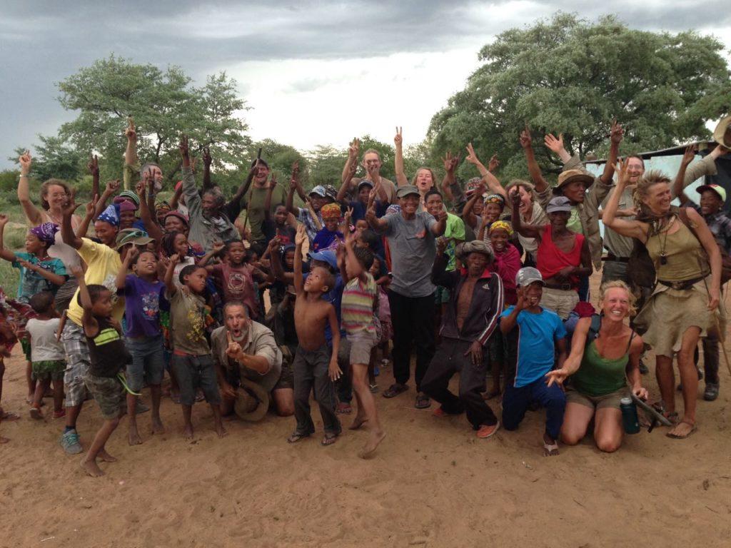 2018 in der Kalahari (Namibia) auf einem Austausch mit den Ju/´hoansi San